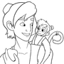 Aladdin and Abu lineart by FallenMorning