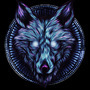 The Lone Wolf (Blue) by LiftYourSkinnyFists