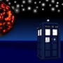Tardis and Gallifrey vector background by AviDotExe