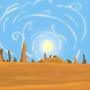 Desert background by Hampelinen
