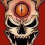 Horned Skull by ForeveraToon