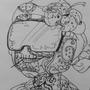 Sugar skull Tankman by HlihorAlecsandra