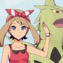 Pokemon May and Mega Tyranitar by GrumpySheep