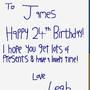 A Birthday Card from Leah! by JTBPreston