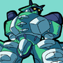 Green mecha by hellwink