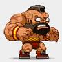 Pixel Zangief by JohnnyUtah