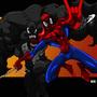 Spidey and Venom by RickMarin