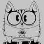 Inktober: Goth Kitten by CourageousCosmic