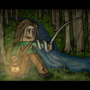 Brave Minecraft Girl