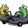 What do you call it when a dinosaur crashes their car? by BrandonPewPew
