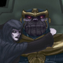 Thanos and Death by LegionBrewer
