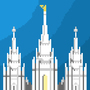 Pixel Salt Lake City Temple by JerrodStorm