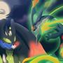 100 Percent Zygarde vs Mega Rayquaza by Sozo-Teki
