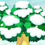 Animal Crossing Forest - Winter by Axelstation