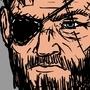 Metal Gear Solid V: The Phantom Pain - Big Boss sketch by Glenorsven