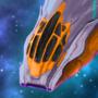 Cormorant Class Starship by qualinwraith