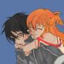 kirito and asuna by AlexanderJones
