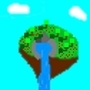 Small Flying Pixel Island by Stefo3000