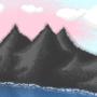 Mountainy pixel art [Wallpaper]