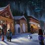 Snowdin town by Kiabugboy