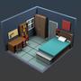 Dorm Room (3D low-poly) by jsabbott