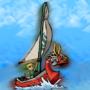 Link at Sea by Churroman