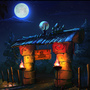 Village gate at night by Lizertdesign