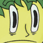 Scared green haired guy by Ombey