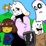 Undertale Painting by ThomasCastle