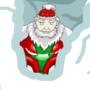 Super santa (unfinished , the snow is like a cover for the body part that i cant finish ) by MihaiIdk