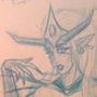 Sabtastic's Colour Pallette Monster Lady - Fan Sketch by Chadcellor
