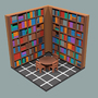 The Library (Low-Poly) by jsabbott