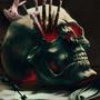 Skull Pencil Holder by ParadoxArt