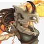 Bone Warrior pin up by Lizertdesign