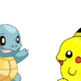 Best Friends, Squirtle & Pikachu by breqs14