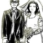 Stephen Hawking and his wife by jhonatan520