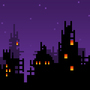 8-bit world at night by MarcusGamez