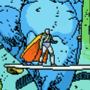 pixelation of a Moebius comic panel by UltimoGames