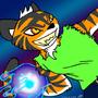 Tempestt Tiger of Water by Axilia-Eranova-Black