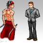 Ninja and the Businessman by LegendofDelza