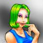 Flirtacious Girl by LegendofDelza