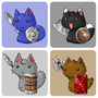 Kitten Warriors by matt-likes-swords