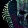 Blue skull by masacra