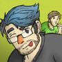 Markiplier Selfie, PewDiePie Photobombing by AniLover16