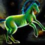 Green Cosmo Horse