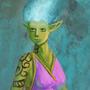 blue fire elf