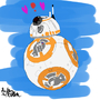 BB-8 color-sketch by Lord-Lucca