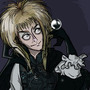 Jareth the Goblin King (Finished and colored! :D) by Coolkitten13