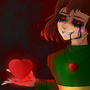 Chara - The World is Ending (Undertale Wallpaper) by DigitalColdI