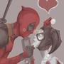 Deadpool and Harley Quinn by IceMan20814